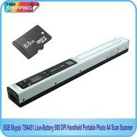 Wholesale GB Skypix TSN451 Lion Battery DPI Handheld Portable Photo A4 Scan Scanner