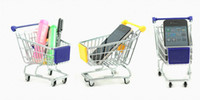 Wholesale 2013 fashion cute MINI Supermarket Shopping Cart shaped Portable storage baskets suit for Mobile Phone Holder