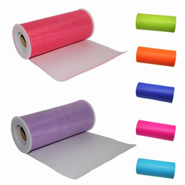 Wholesale 5pcs TULLE Roll Spool quot x25Y Tutu Wedding Gift Bow Craft Bridal Decorating color