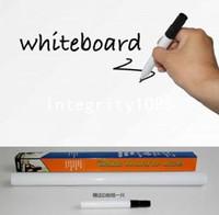 Wholesale color cm cm PVC Dry Erase Black board Sticker Whiteboard Sticker Greenboard Sticker