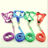 New Dog Puppy Cat harness leash lead set Polyester Material ...