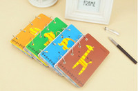 Wholesale New Arrive Design Cute Animal Diary Iron Ring Spiral Notebook SO Kawaii