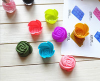 Wholesale cm Rose Chocolate Silica Gel Mold Cake Decoration Mold Cupcake Moulds Jelly Pudding