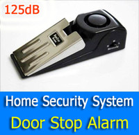 Wholesale 125dB Practical Super Window Door Stop Alarm Burglar Alarm Home Security System Battery Powered for Home Indoor