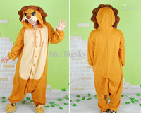 Animal Christmas Japanese Animal Wholesale - Hot New Unisex Adult Onesie Kigurumi Pajamas Anime Cosplay Costume Sleepwear LION