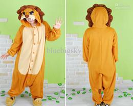 Wholesale Hot New Unisex Adult Onesie Kigurumi Pajamas Anime Cosplay Costume Sleepwear LION