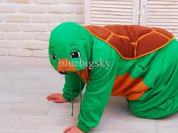 Wholesale Animal Sea Turtle Onesie Kigurumi Pajamas Anime Cosplay Costume Sleepsuit S XL
