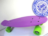 22inch Purple New Fresh PP Material 22 inch Plastic Complete Skateboard Penny Skate Penny Board Penny Board Skateboard Penny Nickel Penny Skate