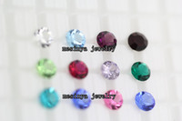 Wholesale 5 mm round bling bling genuine crystal months birthstone floating charm for glass locket promotion gift Xmas mother day