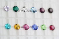 Wholesale 5 mm round bling sparkle birthstones floating charm for glass memory locket promotion gift Xmas mother