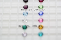 Wholesale 5 mm round bling sparkle genuine crystal birthstones floating charm for glass memory locket promotion gift Xmas keepsake