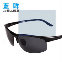 Semi-Rimless aluminum limited edition - Lanmou Limited Edition Men magnesium influx Polarizer sunglasses cool sunglasses driver mirror driving