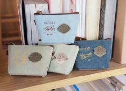 Wholesale Korea notes retro industrial canvas wallet cute coin bags Creative Wallets