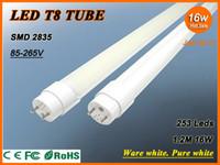 T8 SMD 2835 1.2M Free shipping LED tube 1200mm 1.2M 4 feet 16W 1500LM T8 light SMD 2835 253 Leds LED fluorescent tube LED tube bulb wholesale lamp lighting