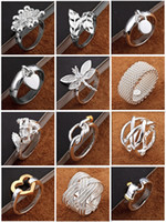 Wholesale 925 silver jewelry Charming Women girls finge rings Multi Styles Rings Mix size amp mix order Best valentine s gift