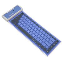 Portable Universal Bluetooth inalámbrico suave teclado de silicona para Tablet PC iPad impermeable a prueba de polvo Flexible plegable teclado Qwerty