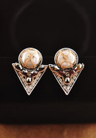 natural color diamond - Natural color diamond earrings