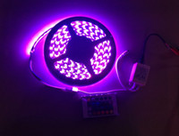 Wholesale Sample M FT V SMD RGB Flexible Waterproof Led Strip Light Lamp LEDs For Car House Party Decorate IR Remote Control