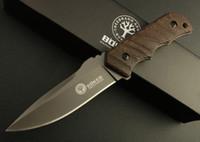Revisiones Boker knife-Caiga Boker del envío del cuchillo de caza cuchillo de hoja fija cuchillo de supervivencia cuchillo cuchillos rectos con la envoltura de cuero