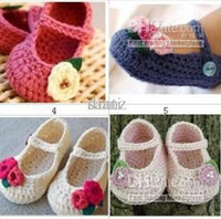 Summer baby jane booties - FLOWER BABY CLOTHES BOOTIES SHOES MARY JANE MONTHS CROCHET handmade infant baby shoes