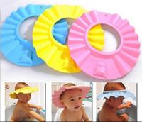 every day hair washing hat - Shampoo Caps Baby Bath Shower Hats Wash Hair Shield Soft And Safe Sample Top Order Cartoon Sun Caps BB34
