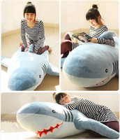 "shark Blue Plush 71""(1.8M) GIANT HUGE SHARK STUFFED ANIMAL PLUSH SOFT TOY PILLOW SOFA CUTE GIFT"