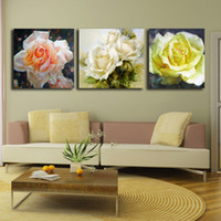 Abstract   Modern pure hand painting oil painting decorative painting entranceway painting set peony rose spt-0045