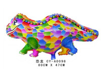 Wholesale 100pcs Dinosaur Shaped Foil Balloon Kids Inflatable Cartoon Animal Toys Party Balloon Toy