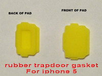Earphone Jack Plugs   brand new Replacement Yellow Seal Rubber Charger Door Rubber Seal trapdoor gasket for iphone 4 4s 5 waterproof case Accessories