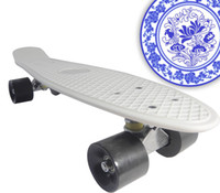 22inch White New Fresh PP Material Cheapest 22 inch Penny Board Skateboard Penny Nickel Banana Board Fish Board Penny Skate Penny Nickel Penny Board Skateboards