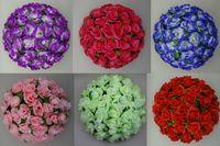 Wholesale 30CM inch Artificial Kissing Pomander Rose Flowers Ball Wedding Favors Bouquet Party Home Decoration