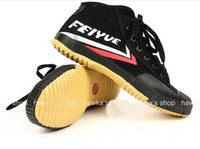 Wholesale Feiyue Sneaker Shoes for Men and Women for Martial Arts Kung Fu Wushu Tai Chi Barefoot Classic Black High Top