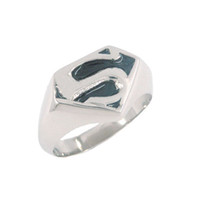Wholesale Black Superman Ring Stainless Steel Jewelry Fashion Ring SWR0008