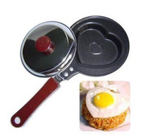 Wholesale High Quality New Mini Heart Shaped Egg Cake Chocalate Fry Frying Cook Pan Non Stick Familiy Use