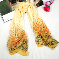 Wholesale Silk scarves new figure long chiffon scarves sell of autumn leaves fedex