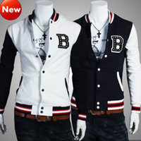 Wholesale NEW Men Women College Collegiate Sport Varsity Letterman Baseball Jacket Blazer Sweatshirt Short Coat Stud Studded