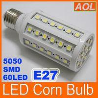 LED Corn лампочек 12W 1080LM E27 E14 B22 60 LED 5050 SMD LED Винт лампочка мозоли теплый белый / белый 110-220V светодиодные лампы