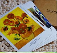 Wholesale 96pcs Van Gogh Famous Pictures Postcards Cheap Post Card Custom Cards For Souvenir CA06