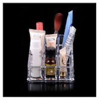 Wholesale Clear Acrylic Makeup Cosmetic Organizer Lipstick Brush Display Holder Stand
