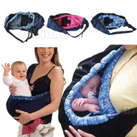 Wholesale Infant newborn Baby carrier Sling wrap Cute Stylish swaddling strap sleeping bag inclined cross feeding Front Carry bag colors