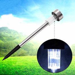 Wholesale 240pcs Solar Powered Rechargeable Stainless Steel Garden Lawn Lights Lawn Lamps White green blue orange yellow Light