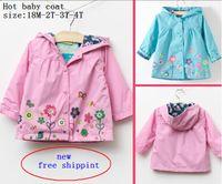 Wholesale HOT new new girl spring flowers windbreaker children cartoon colour high quality baby coat jacket overcoat
