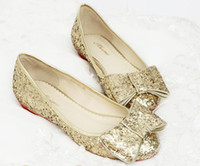 Wholesale 2013 comfortable Formal Dress Shoe Glitter Ballet Flats Bridal Shoes bridesmaid shoes Hot Wedding Prom Shoes