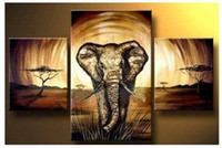 More Panel Oil Painting Abstract MODERN ABSTRACT HUGE WALL ART OIL PAINTING ON CANVAS-Elephant