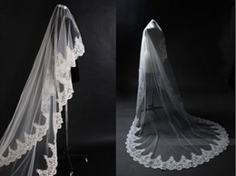 Cheap!!Amazing One Layer High Quality2013 Hot Sale Chic Tulle Lace Bridal veils