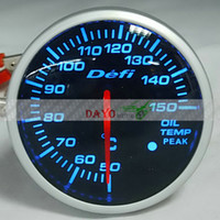 Wholesale mm Defi BF Gauge Car Meter Oil TEMP Temperature Meter Blue Light