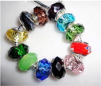 Wholesale European Style Popular Spacer Big Macroporous Glass Crystal Beads for DIY Bracelet Mix order