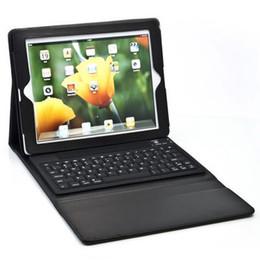Caso de cuero del teclado del iphone en venta-Caja de cuero sin hilos del teclado 3.0 de Bluetooth + para el ipad 2 3 4iphone de ipad4