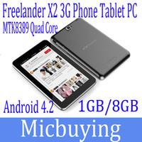 7 inch freelander tablets - 7 Inch Tablet PC Freelander PX2 MTK8389 Quad Core Inbuilt G WCDMA Phablet Android GPS Bluetooth MP MP Dual Camera X600Px