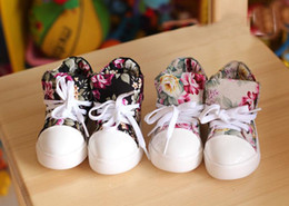 Wholesale Han edition of new fund of autumn private help flower character in canvas shoes children s girls and boys casual shoes SJ